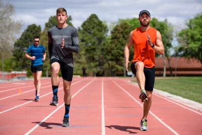 Symmonds and training partner Cas Loxsom (credit: Brooks Running)