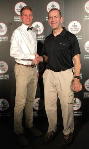 Hunter and Schwartz at Foot Lockers in December (photo courtesy Tom Schwartz)