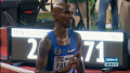 Farah wagged his finger at the finish to swat away all challengers