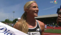 Emma Coburn All Smiles After on NBC