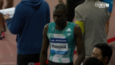 Rudisha wasn't happy after this one