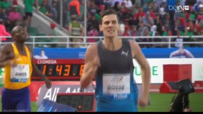 Bosse ran a terrific race