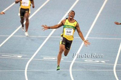 Blake, at 21, became the youngest man ever to win the 100-meter world title in 2011