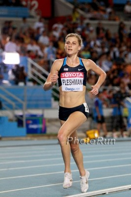 Fleshman was 7th in the 5,000 at Worlds in 2011, the top finish by a non-African athlete
