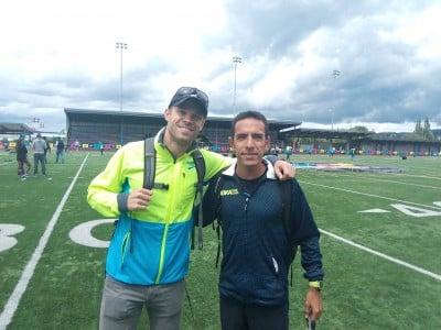Nick Symmonds and Leo Manzano Having a Good Time