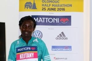 PHOTO: Mary Keitany in advance of the 2016 Mattoni Olomouc Half-Marathon (photo courtesy of RunCzech)