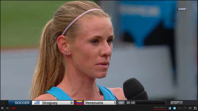 Frerichs was interviewed on ESPN after winning her heat with ease