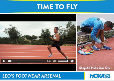 Checkout Leo Manzano's Hoka Arsenal