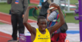 Cheserek celebrates #15