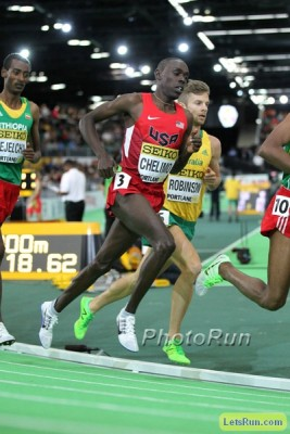 Chelimo was 8th at World Indoors in March