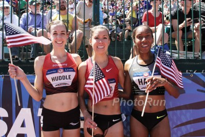 Molly Huddle, Emily Infeld, Mariell Hall Your Olympic Team