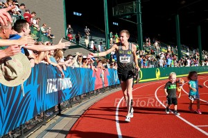 Galen Rupp victory lap with his kids