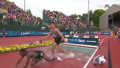 Kebenei and Cabral on the last water jump