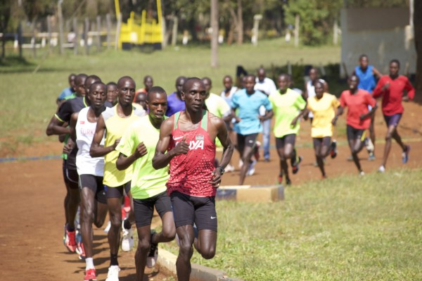 Figuratively and literally, everyone is following Kipchoge