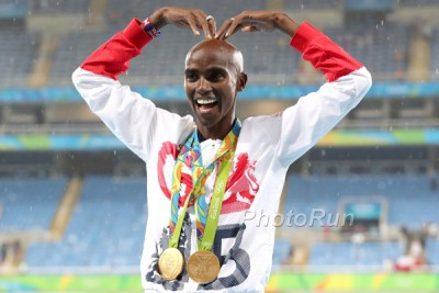 Mo Farah with 2 more golds in Rio
