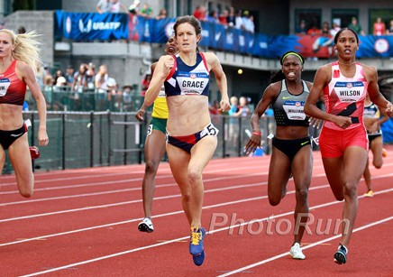 Kate Grace on her way to winning the Olympic Trials
