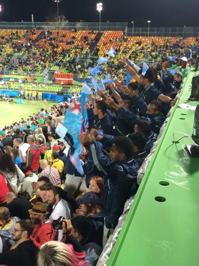 The Fiji fan section