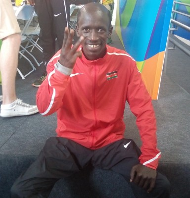 Kemboi after yesterday's race