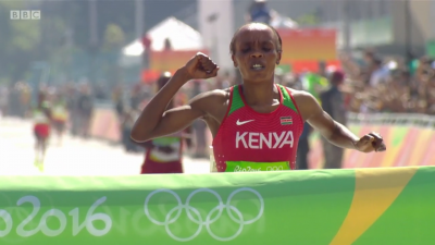 Jemima Sumgong wins gold