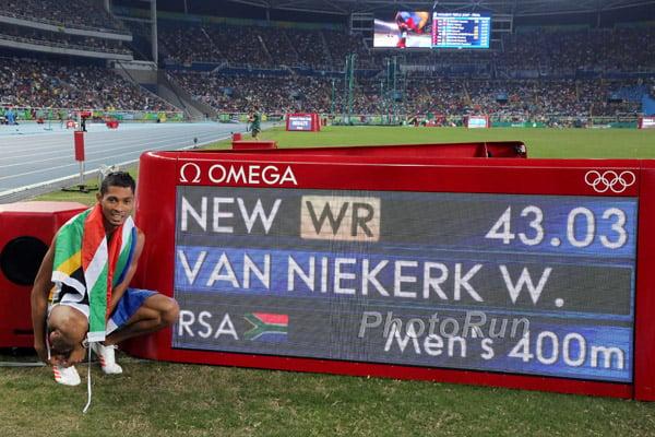43 03 From Lane 8! Wayde van Niekerk Takes Down Michael Johnson's 17