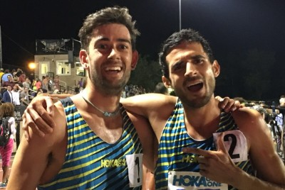 eet director Kyle Merber and winner David Torrence after the 2016 Hoka One One Long Island Mile (photo by Jane Monti for Race Results Weekly)
