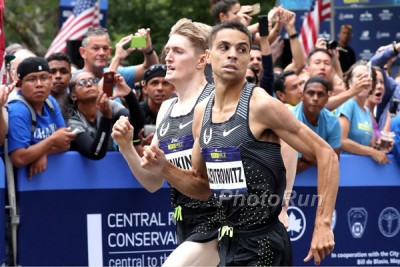 Jenkins got the better of Centro at the 2016 Fifth Avenue Mile
