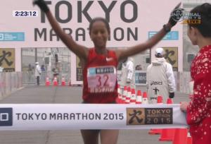 Dibaba winning Tokyo last year