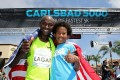 Bernard Lagat and son