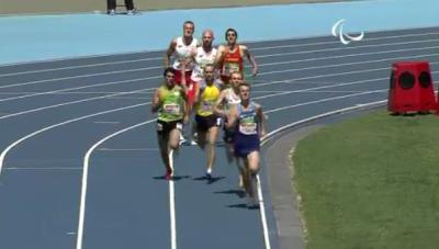 Brannigan on backstretch of final lap