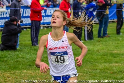 The last time we saw Ostrander on a cross country course, she took second at NCAAs