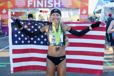 2016 Medtronic Twin Cities Marathon & 10 Mile The Most Beautiful Urban Marathon in America® Jordan HASAY celebrates her 10 Mile win