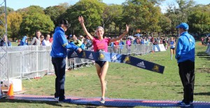 Liv Westphal wins the 2016 Mayor's Cup Cross Country in Boston's Franklin Park (photo by Chris Lotsbom for Race Results Weekly)