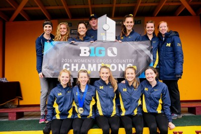 Michigan claimed the Big 10 title on October 30 courtesy Michgan Womens Track