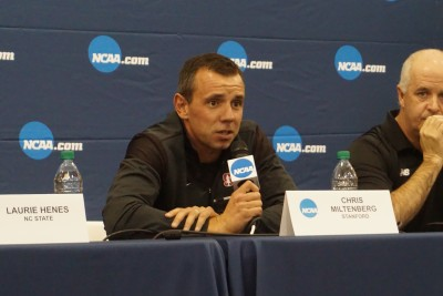 Stanford coach Chris Miltenberg has put his men on the podium in each of the past two years