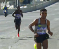 Ghebrselassie Pulls Away on Bridge