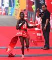 Degefa winning in New Delhi. Photo courtesy of ADHM / Procam International.