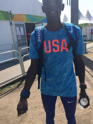 Chelimo wearing the dhamaSPORT in Rio