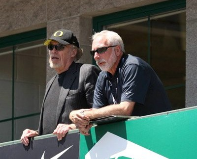Lananna (r) with Phil Knight