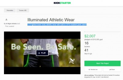 At Night Athletic's Kick Starter page is now live