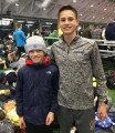 Principe (right) at the Dartmouth Relays with another fast kid: Aidan Cox,