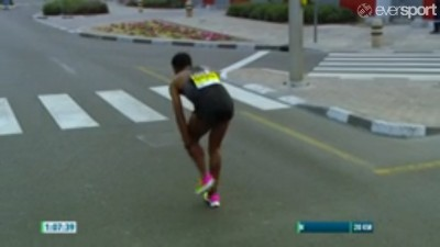 Sadly, Bekele would barely make it past halfway