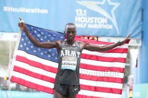 Leonard Korir After His Win in Houston