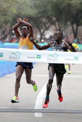 Korir edging Lilesa in Houston in January