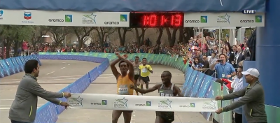 Korir edged Lilesa at the line in a thriller