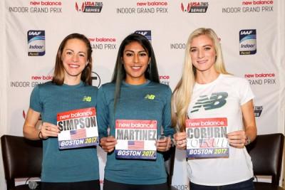 Jenny Simpson, Brenda Martinez and Emma Coburn