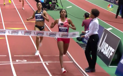 Ajee Wilso Sets American Record