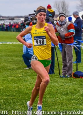 Rainsberger delivered a massive run to lead the Ducks at NCAA XC in November
