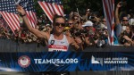 Amy Cragg winning the 2016 USA Olympic Trials Marathon in Los Angeles, Calif. (photo by Jane Monti for Race Results Weekly)