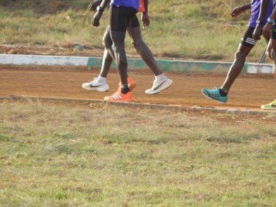 Kipchoge on Moi University Track