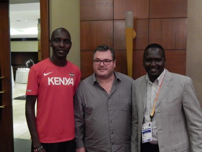 Asbel Kiprop, Frederico Rosa, and Paul Tergat at World Cross Country this year